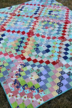 My Scrappy Trip Along Quilt