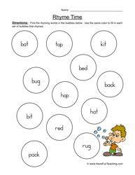 rhyming worksheet 1 english language english and language. Black Bedroom Furniture Sets. Home Design Ideas