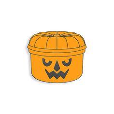 Pumpkin Halloween Lunchbox Enamel Pin by YesterdaysCo on Etsy