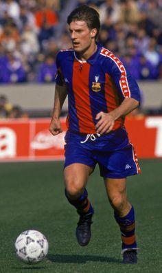 Michael Laudrup [1989-1994] Best Football Players, World Football, Football Soccer, Fc Barcelona, Fifa, Soccer Cards, Camp Nou, Sports Stars, Dream Team