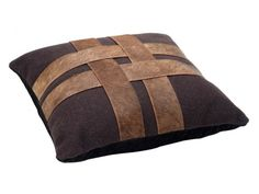Leather Cushions, Cushions Online, Leather Products, Cross Patterns, Cushion Covers, Criss Cross, Throw Pillows, Stuff To Buy, Accessories