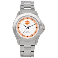 $94.95 Jack Mason Brand Clemson Tigers Sport Bracelet With 12 Hour Logo Watch