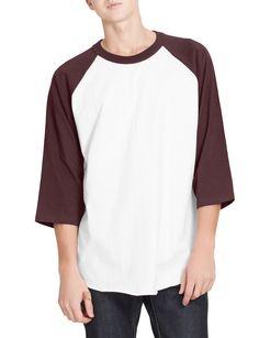 08146f0fa LE3NO Mens Vintage Crew Neck 3 4 Sleeve Raglan T Shirt Hoodie Jacket