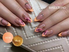 Creative Nail Designs, Creative Nails, Nail Art Designs, Basic Nails, Gelish Nails, Flower Nail Art, Pretty Nail Art, French Nails, Spring Nails