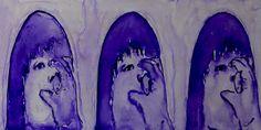 "Fragmento de la serie ""Stimming"", Acuarela sobre vidrio by Mireya Valero"