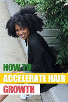 Accelerate your hair growth using our hair growth serum. Natural Hair Growth Tips, How To Grow Natural Hair, 4c Natural Hair, Natural Hair Styles, Fast Hairstyles, Black Hairstyles, Happy Healthy, Healthy Hair, How To Grow Your Hair Faster