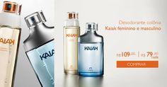 PROMOÇÕES E NOVIDADES REDE NATURA (12/04 a 18/04) rede.natura.net/espaco/FABIOLARAQUEL Explore as fragrâncias da linha Kaiak e descubra o que move você. Compre online o desodorante colônia Kaiak feminino ou masculino com mais de 25% de desconto. Aproveite! Natura Kaiak Economize R$ 30.