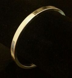 Elegant vintage sterling silver bangle bracelet by SilverStarrs925, $24.00