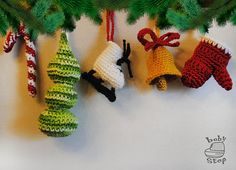 Christmas gift tree decoration Crochet Ornament от BabyStepStore