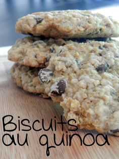 Biscuits avoine et quinoa aux brisures de chocolat ~ Ces temps ci en cuisine