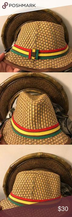 Peter Grimm Rasta Straw Hat Fedora One Size Peter Grimm Rasta Straw Hat Fedora One Size Excellent Condition Peter Grimm Accessories Hats