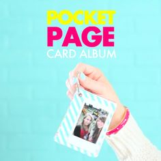 This pocket page album is the perfect way to share your memories in mini! Learn how to make it at Blitsy.
