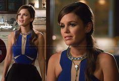 Zoe's blue colorblock cutout dress on Hart of Dixie.  Outfit Details: http://wornontv.net/20653/ #HartofDixie
