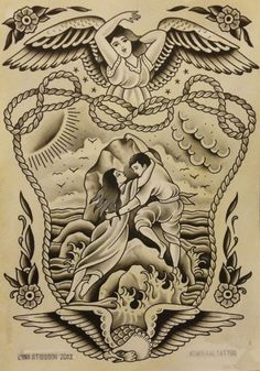 """Lina Stigsson's design for tattoo """"Rock of Ages"""""""