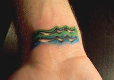 Best Aquarius tattoo design on wrist