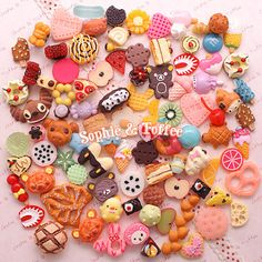 Decoden Sweets Deco Resin Kawaii Cabochon Assortment Assorted Pack Sophie & Toffee Sweets Starter Pack (20pcs) on Etsy, $9.66