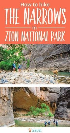 18 Helpful Tips for the Zion Narrows Hike with kids (or without kids).  If you are traveling to Utah, hiking the Narrows is likely on your bucket lists! This scenic hike is fun for adults looking for adventure, and is possible to do with kids as well.  Get ready for great photography opportunities, scenic views, and a hiking experience like no other! Zion National Park is an incredible US vacation destination! #ZionNationalPark #NationalPark #familytravel #familyvacation