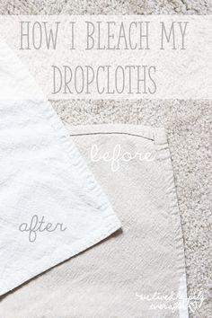How to Bleach Drop Cloths!