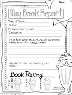 1st Grade Fantabulous: Craft Room and May Book Reports...cute book reports
