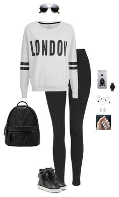 """""""Sporty Chic"""" by hanakdudley ❤ liked on Polyvore featuring Topshop, ONLY, rag & bone, The Horse, Rock 'N Rose, women's clothing, women's fashion, women, female and woman"""
