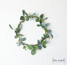 Flower Crown, Boho Wedding, Green Flower Crown, Greenery, Floral Crown, Flower Head Piece, Flower Hair Accessory, Wedding Crown, Eucalyptus