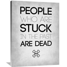 Naxart 'People Who Are Stuck Poster 1' Textual Art on Wrapped Canvas Size: