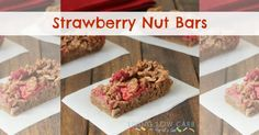Strawberry Nut Bars - Living Low Carb One Day At A Time paleo breakfast cookies Breakfast Bars, Low Carb Breakfast, Breakfast Recipes, Breakfast Ideas, Breakfast Cookies, Vegan Breakfast, Brunch Recipes, Jam Recipes, Real Food Recipes