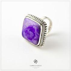 Sugilite in an ornate sterling silver setting. Gemstone Rings, Gemstones, Sterling Silver, Jewelry, Jewlery, Bijoux, Schmuck, Jewerly, Gems