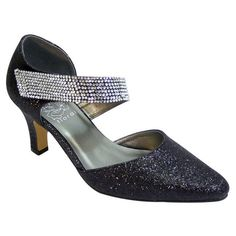 52447d7bbed FIC Floral Women s Sarah Multicolored Polyurethane Wide-width Heels (Black  12 Extra Wide)