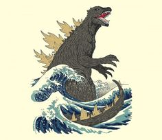 The Great Monster Off Kanagawa TEE BY DINOMIKE