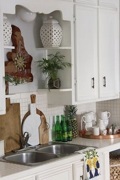 Kitchen Cart Makeover - Claire Brody Designs