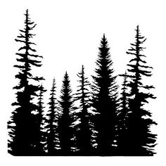 forest shilouettes forest clip art vector clip art online rh pinterest com forest clipart images forest firefighter clipart free
