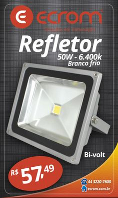 Refletor externa 50W. Branco frio 6.400K