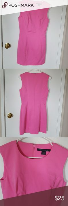 PRICE DROP! French Connection Pink Dress So Carrie Bradshaw! Add a studded black belt and you have the look! Size 6. Length 33 inches, bust 15, waist 14. Smoke free home. No holes, stains or tears. Has been worn a few times. French Connection Dresses Mini