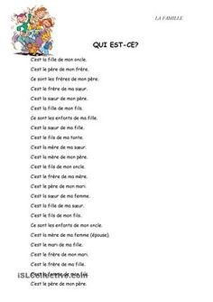 One-click print document French Language Lessons, French Language Learning, French Lessons, French Basics, French For Beginners, French Flashcards, French Worksheets, French Expressions, French Teaching Resources