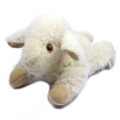 """Bouillotte """"doudou agneau"""" en laine et noyaux de cerises - Sebio"""
