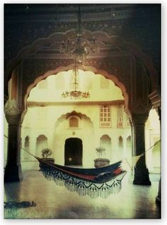 Gave me the shivers - take out the hammock and put in a pale wood desk, and this could be the atrium at Kel Arain...