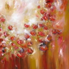 """Alison Johnson - Festival of colours  Oil on Canvas 36"""" x 36"""" £1,995 or 10 monthly interest free payments of £199.50"""