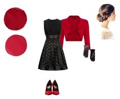 """Bun of Red"" by caterineevita on Polyvore featuring Phase Eight, Victoria, Victoria Beckham, MANGO, Yves Saint Laurent, Temptu, Kevyn Aucoin and britishstyle"