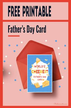 Free Printable Father's Day Card Grab the World's Cheesiest Father's Day Card here! Homemade Fathers Day Gifts, Fathers Day Crafts, Homemade Gifts, Free Printable Calendar, Printable Cards, Free Printables, Diy Father's Day Crafts, Father's Day Diy, Free Graphics