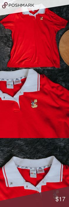 Vintage Disney Pooh Embroidered Collared Shirt This vintage disney collared shirt is like brand new! Still vibrant, it looks like it's never been worn. Pooh bear is embroidered on the left chest area and there's a precious honey bee embroidered on the right collar. Winnie the pooh has a huge following and this shirt is perfect for the collector. Disney Tops
