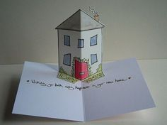 biglietto casetta pop up * (card by rachelcreative)