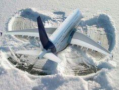 Snow Angel ...Airbus style!