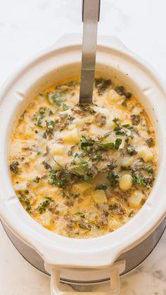Crockpot Dishes, Crock Pot Soup, Slow Cooker Soup, Crock Pot Cooking, Slow Cooker Recipes, Cooking Recipes, Healthy Crockpot Soup Recipes, Easy Healthy Crockpot Meals, Healthy Fall Soups