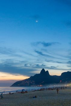 Post-Sunset on Ipanema ,Rio,Brazil - Travel Image Brazil Cities, Places To Travel, Places To Visit, Rio Brazil, Brazil Travel, Outdoor Travel, Travel Around, Beautiful Beaches, Travel Inspiration