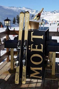 Luxury lifestyle - for those of you that ski, these are the ultimate show piece skis....