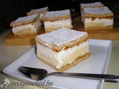 Felhő szelet **Katt a képre, ha érdekel a receptje is** Hungarian Recipes, Vanilla Cake, Tiramisu, Deserts, Ethnic Recipes, Food, Sheet Cakes, Bakken, Essen
