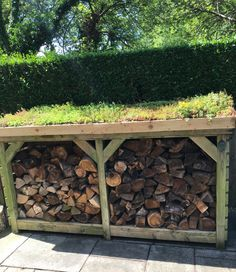 How about this then? Our customer had constructed this store but felt it needed softening and enhancing. She contacted us and we were very happy to supply her Diy Log Store, Wood Store, Roof Storage, Outside Storage, Firewood Shed, Firewood Storage, Open Shed, Sedum Roof, Bin Store