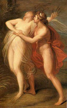 Andrea Appiani - Apollo and Daphne. Tags: apollo, apollon, daphne, dafne, metamorphoses, transformations, nymphs, naiads,