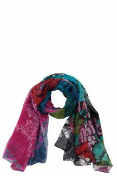 Desigual Women's Mega scarf. Our pashminas are selling fast. And it's no surprise given how cool and original they are... Measurements: 190x105 cm. / 74.1